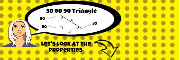 30 60 90 triangle infographic