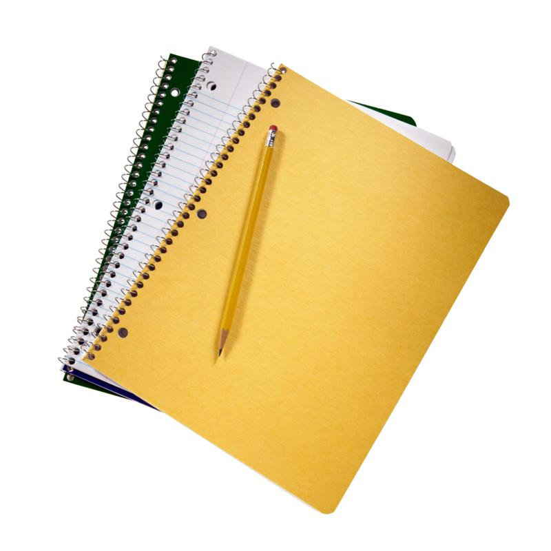 organize/three notepads,black,white,yellow