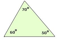 acute triangle 70 60 50 angles