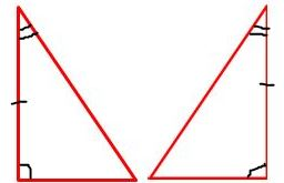two congruent triangles use ASA