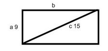 rectangle with diagonal of 15 units/how to find the area of a rectangle