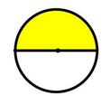 yellow and white circle