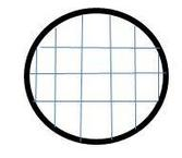 circle with graph paper on inside area of a circle