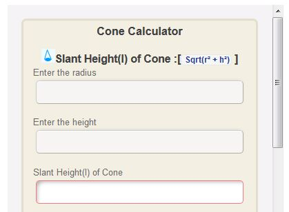 link to cone calculator