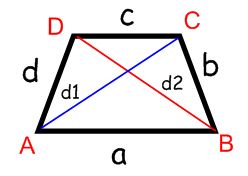 diagonal length trapezoid