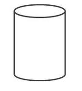 cylinder 4 by 3 units