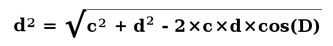 formula diagonal length of a trapezoid