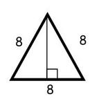 triangle sides of 8 #triangle |http://www.moomoomath.com/How-to-find-the-height-of-an-equilateral-triangle.html