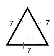 equilateral triangle sides of 7