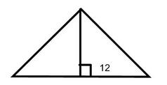 equilateral triangle height of 12
