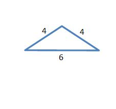 4 by 4 by 6 triangle