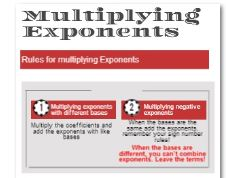 multiplying exponents infographic