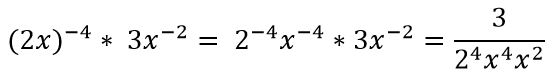 simplifying negative exponents 2x^-4 x 3x_2