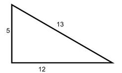 right triangle with angles of 50  40  90