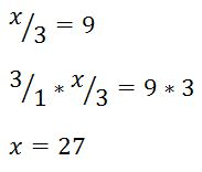 one step equation with division