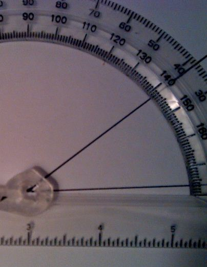 protractor measuring angles