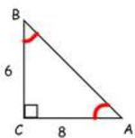 special right triangles adjacent over opposite