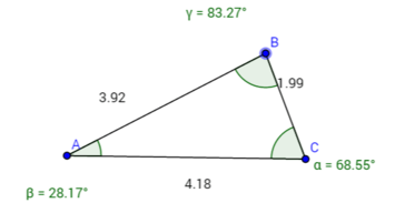 scalene triangle 3 different angles and side lengths