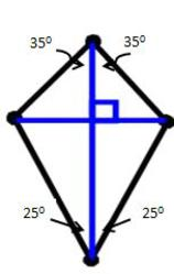 diagonals of a kite/definition of kite in geometry