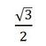 square root three over two