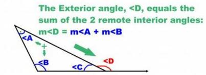 Remote and exterior angles of a triangle - The exterior angle of a triangle is equal to ...