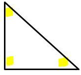 interior angles of a triangle highlighted