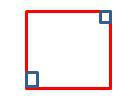 square with perpendicular lines