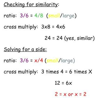 Definition of Similar Triangles Solving for a side