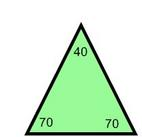 70 70 40 degree triangle