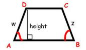 trapezoid labeled a,b,c.d and height