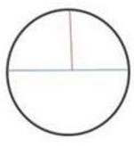with diameter of 8 radius of 4 circle