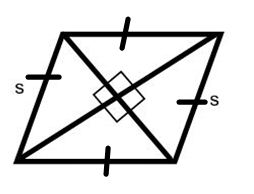 a rhombus/ 4 sided polygon