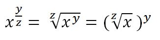 rational exponent property
