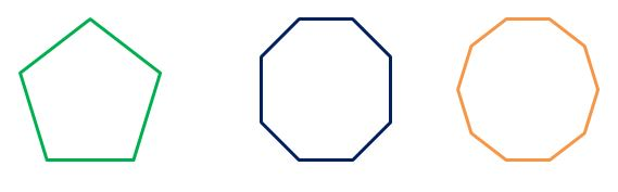 Regular polygon shapes