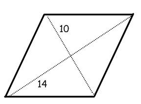 What does a rhombus shape look like