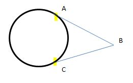 two line segment with common external point