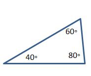 acute triangle 40 60 80 angles