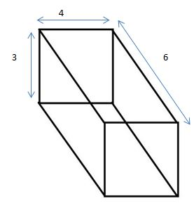 rectangular prism 3 by 4 by 6